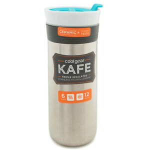 Triple Insulated Travel Mug Stainless Steel Ceramic Tumbler Food Grade BPA Free