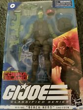 *DISCONTINUED* GI Joe Classified Target Cobra Island Wayne Beach Head Sneeden 6""
