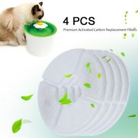 4Pcs Replacement Filters For Flower Pet Dog Cat Water Fountain Drinking Bowl