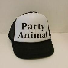 Party Animal  SNAP BACK TRUCKER MESH BLACK HAT