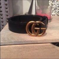 Authentic Gucci Double GG Belt Size 80cm 25-28 waist