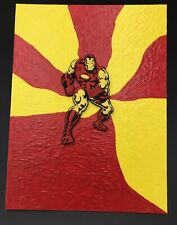 Iron Man Art By Aaron Goodwin 1/1 Painting Panel Canvas Size Is 9x12