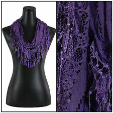 Victorian Style Lace Lightweight Infinity Scarf - Variety of Colors