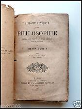 Histoire générale de la philosophie - VICTOR COUSIN - 1867