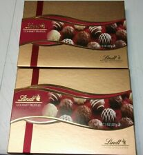 2 Gift Box Lot Lindt Assorted Chocolate Gourmet Truffles 7.3 Oz Exp 2/28/2021