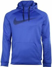 NEW NIKE THERMA FIT STAY WARM TRAINING PULLOVER HOODIE SZ LARGE BLUE 811899 480