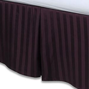 "Purple Luxury Bed Skirt: 100% Egyptian Cotton, 500 Thread Count, 15"" Drop"