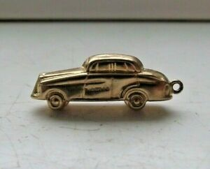 9CT GOLD 1962 HALLMARKED 3D CLASSIC CAR ROLLS ROYCE FOR BRACELET 1.4g EXCELLENT