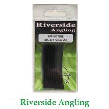 Heat Shrink Tube Black 1.5mm x10 Ronnie Rigs Sleeves Hooks Carp Fishing Pike