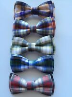 Baby Boys Kids Children Party School Cotton Check bow tie Necktie bowtie Pin