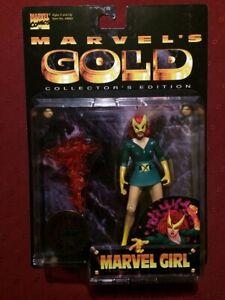 MARVEL'S GOLD : MARVEL GIRL FIGURE, TOYBIZ Neo Genesis Limited Edition 1997, MOC