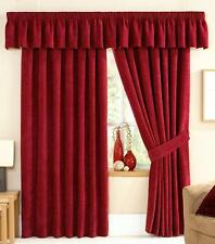 STAMFORD LUXURY CHENILLE FULLY LINED PENCIL PLEAT CURTAINS ~ Many Colours/Sizes