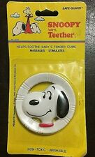 Peanuts Snoopy Vinyl Baby Teether Vintage Collectible Toy NIP