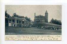 Ashburnham MA Mass Cushing Campus, football team, pavilion, 1907 postcard
