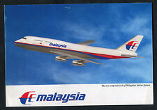 Posted 1991 View of a Malaysia Airways Boeing 747 Airliner