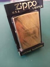 New 1990 Zippo gold plated swirl lighter model 34 markings VI vintage