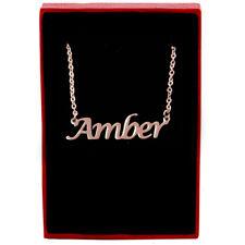 Amber-ROSE GOLD Collana con nome-personalizzato di gioielli-Fashion Da Donna Regali