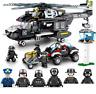 Building Blocks SWAT Helicopter Transport Kids Figure Toys Gift Model Collection