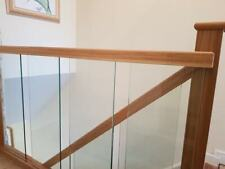 Staircase Handrail Oak and Glass Landing Banister Set for Landing up to 2.4m