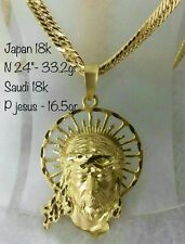 GoldNMore: 18K Necklace and Pendant Gold 24 inches 49.7G