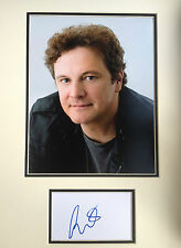 COLIN FIRTH - AWARD WINNING ACTOR  - EXCELLENT SIGNED COLOUR DISPLAY