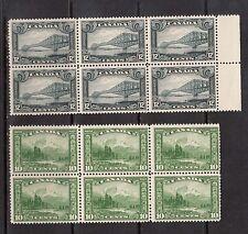 Canada #155 - #156 NH Mint Block Duo