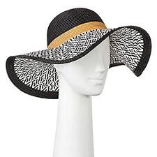 61225dec9e635 Merona Women s Black   White with Brown Stripe Floppy Paper Straw 17