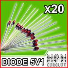 20X DIODO ZENER 5V1 500mW 1/2W BZX55 C 5,1V
