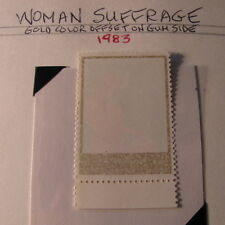 Philippines ERROR gold color offset woman suffrage 1983