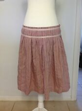 CUE A-Line Multicolour Striped Skirt - Size 12