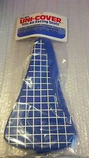 Uni Turbo seat pad cover grid blue and white NOS vintage race oldschool USA bmx
