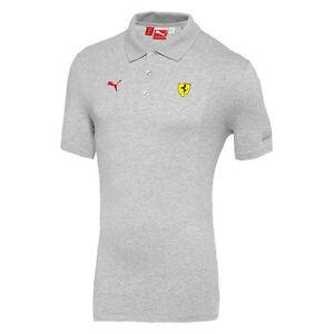 Genuine Ferrari Polo In Gray  With Scuderia Shield On Front
