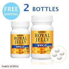 2 bottles SUNTORY Royal Jelly + Sesamin E 120 tablets 30 days ×2 F/S w/ Tracking