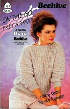 Beehive 464 On the Go Hurry Knits Pullover Knit Knitted Sweater Patterns 1985