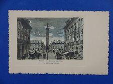 Vintage Postcard The Vendôme Column Paris France Unposted