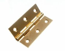 "100 PK  BUTT HINGES 63MM 2 1/2"" BRASS PLATED EB"