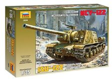 ZVEZDA 3534 SOVIET TANK DESTROYER ISU-122 SCALE MODEL KIT WWII  1/35 NEW