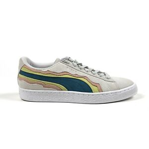Puma Classic Cut Mens 7.5 Coast Pack Beige Rainbow Suede Sneakers 367538-03
