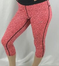 NIKE Relay Womens Capri Leggings Pants Dri-Fit Pink Reptile Print 811458 Size S