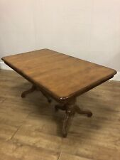 Vintage Mahogany 2 Leaf Extending Twin Pedestal Dining Table Very Clean Solid