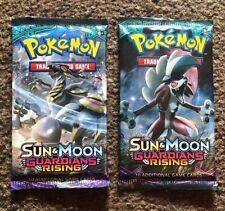 Pokemon Sun & Moon Guardians Rising Booster Pack x2 BRAND NEW GX?!