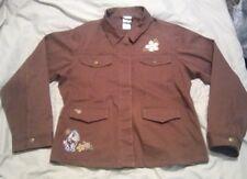 Disney Shopping Women's Jacket sz XL brown button down Eeyore