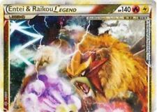 Entei and Raikou LEGEND (Top) - 90/95 - Rare Holo Legend, Light Play Pokemon