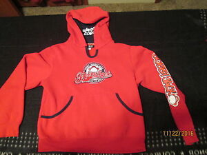 BOBBY JACK,KIDS HOODIE,LARGE,MONKEY BUSINESS,RED,PULL OVER,CUTE, YOUTH, L