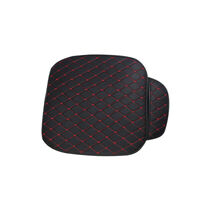 1pcs Universal Car Front Seat Cushion Pad Cover Black PU & Red Line 50 × 50cm