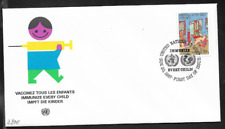 United Nations NY 1987 IMMUNIZE EVERY CHILD First Day Cover