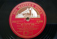 SIDNEY BECHET Hmv 9349 JAZZ 78rpm ROSE ROOM / OH! LADY BE GOOD! NM