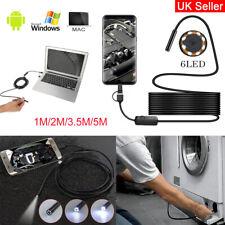USB Endoscopio Boroscopio Snake Inspección 1M-5M Cámara Android teléfono móvil IP67