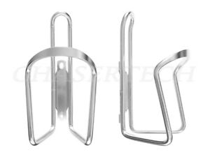 MTB Road City Touring Bicycle Bike Alloy Bottle Cages Silver 1 Pair