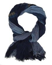 Bufanda Hombre Azul Beige de Ella Jonte Más Amplio Suave viscosa estilo casual